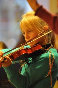 Violinstudio Fidelissimo, im Unterricht